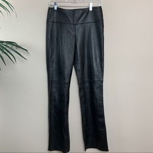 EXPRESS Leather PANTS Size 3/4 Straight Leg